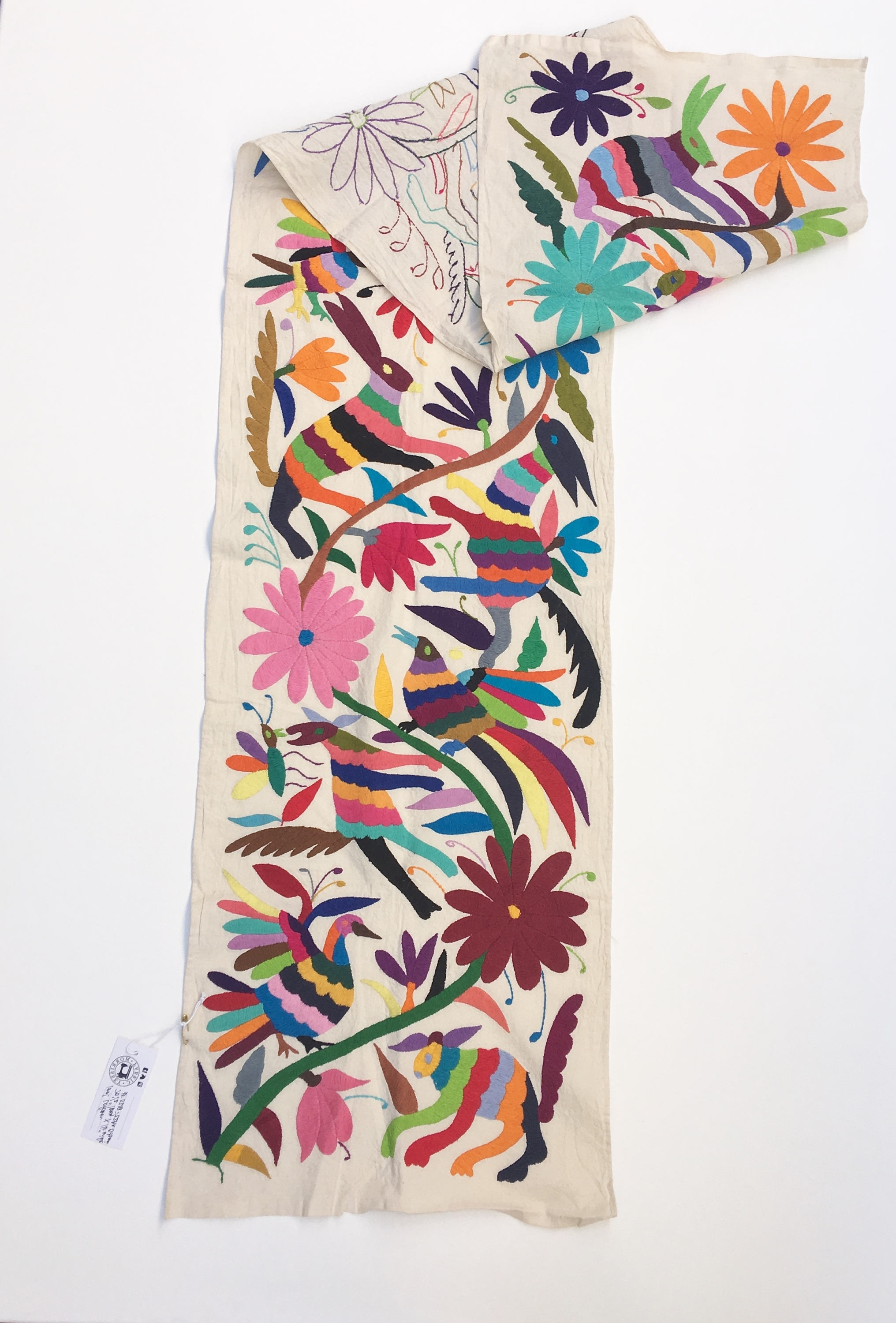 Most Popular Otomi Fabric, Wall Art, Mexican Tenango, Otomi Embroidery,hand For Mexican Fabric Wall Art (View 9 of 15)