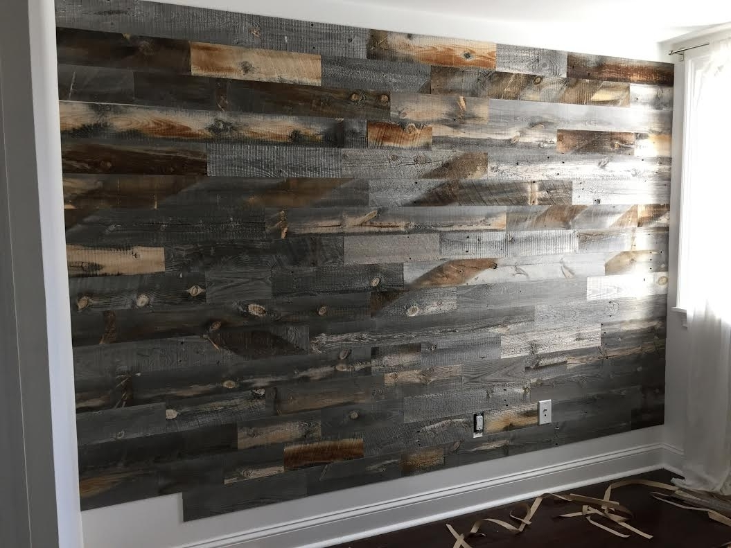 Most Popular Reclaimed Wood Wall Accents For Barn Wood Wall Ideas Reclaimed Wood Accent Wall Ideas Decor (View 5 of 15)