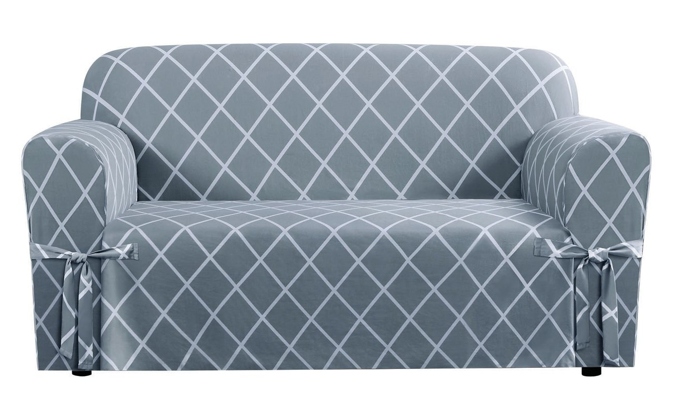 Most Popular Sure Fit Lattice Box Cushion Loveseat Slipcover & Reviews (View 9 of 15)