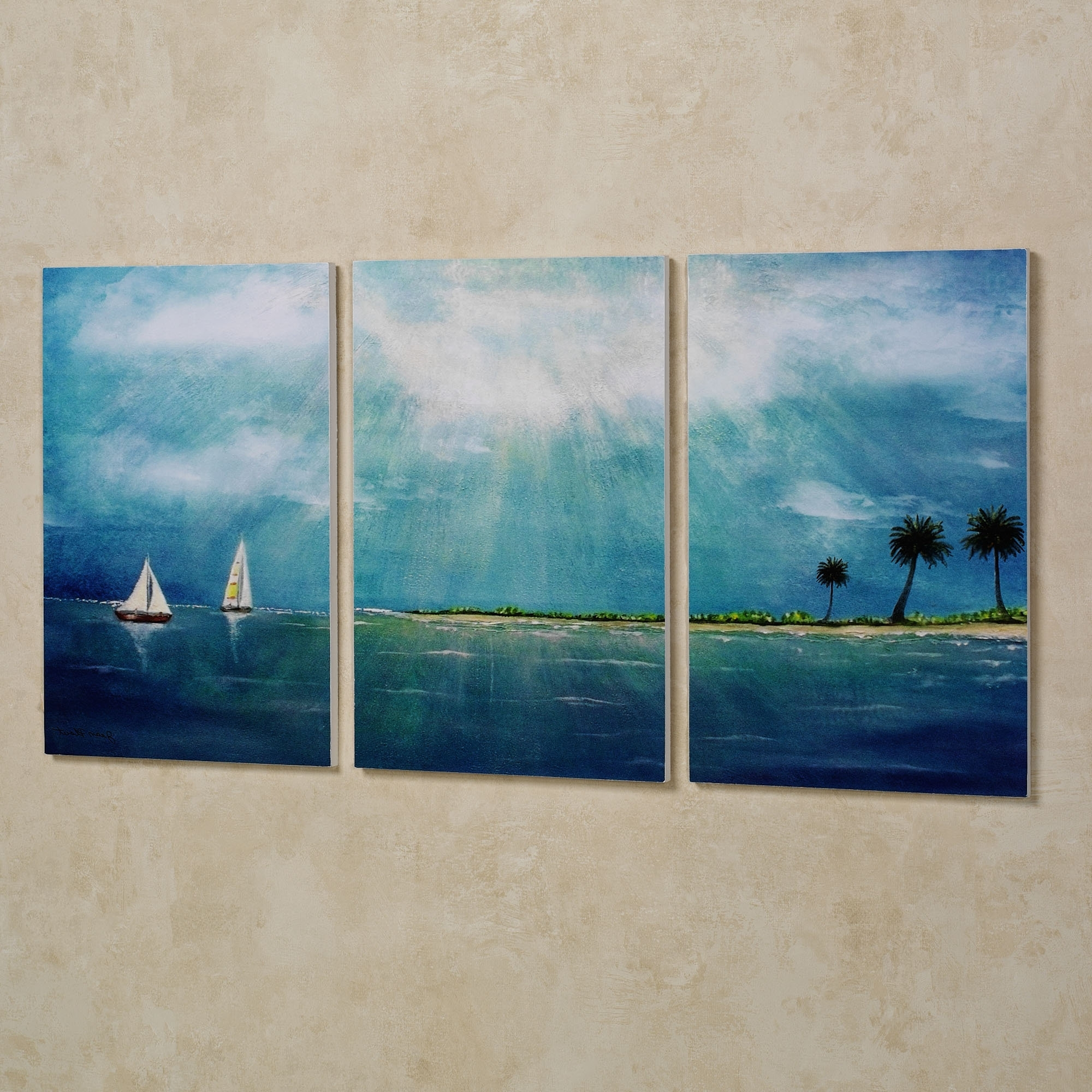 Most Recent Canvas Wall Art Pairs Pertaining To Wall Art Designs: Multi Panel Wall Art Blue Triptych Wall Art (View 9 of 15)