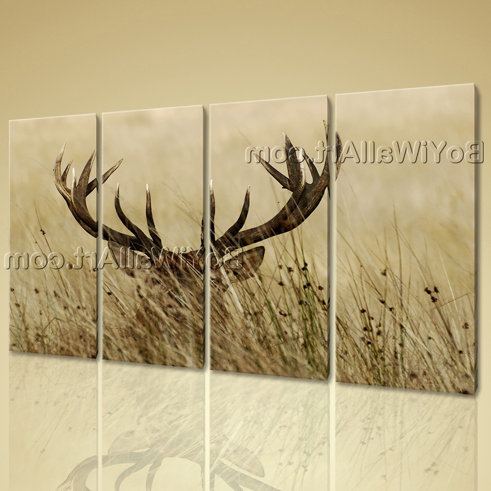 15 Inspirations of Deer Canvas Wall Art