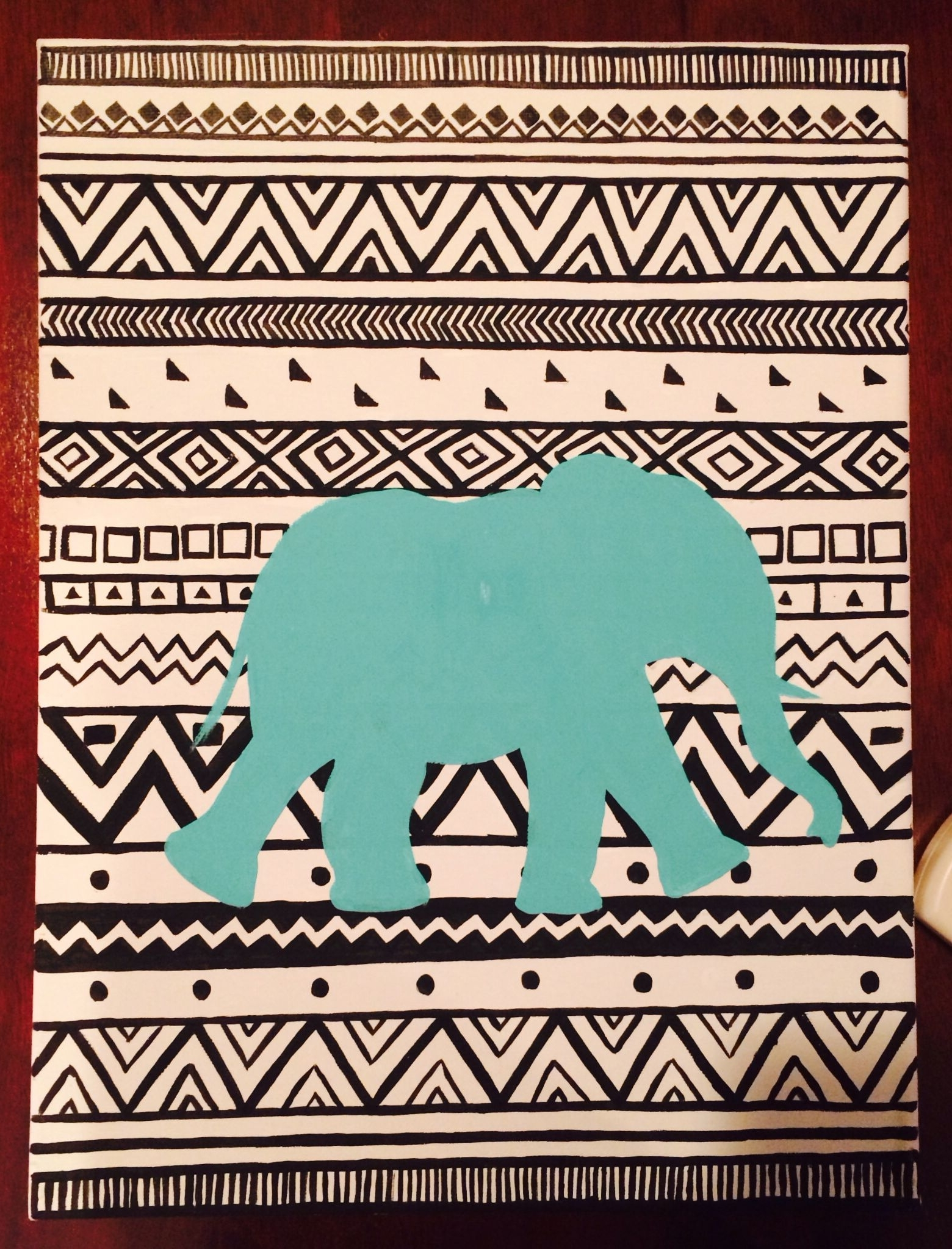 Most Recent Diy College Dorm Decor, Tribal Elephant Canvas Art (View 12 of 15)