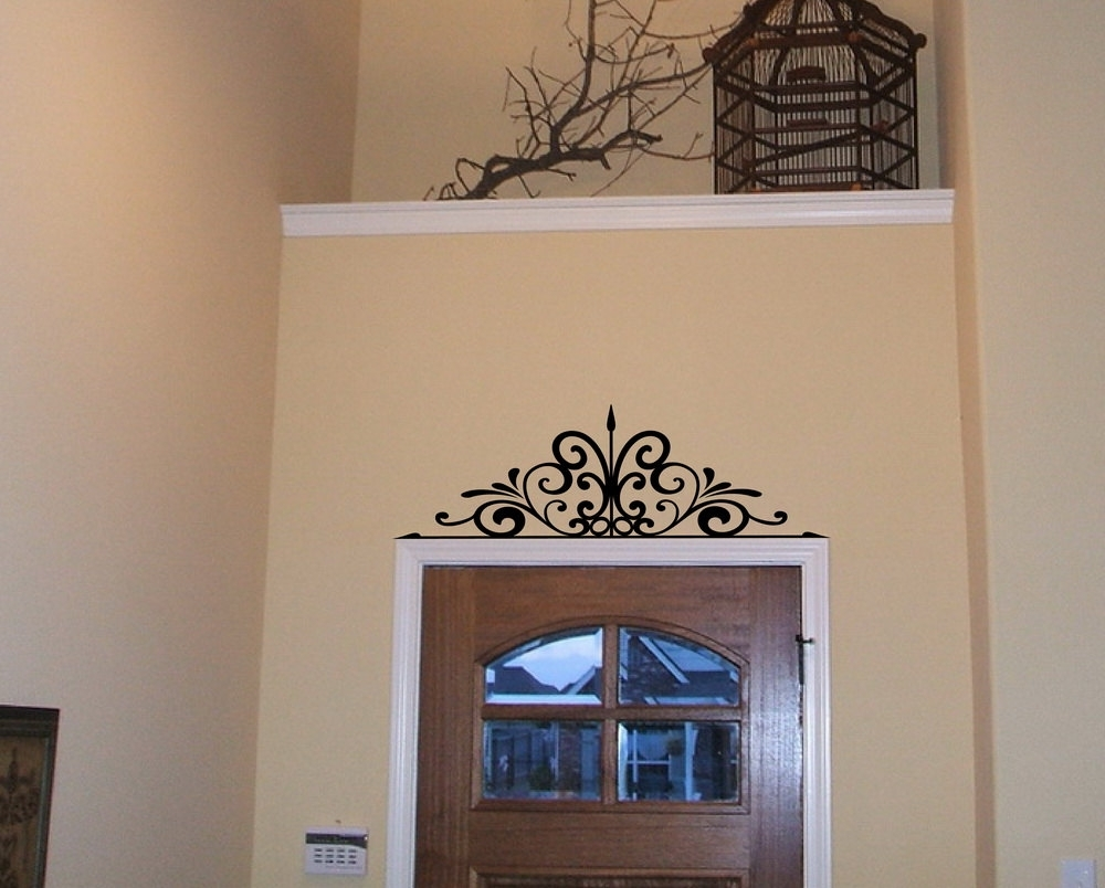 Most Recent Etsy Wall Accents With Regard To Wrought Iron Scroll Wall Decor Blue (View 9 of 15)