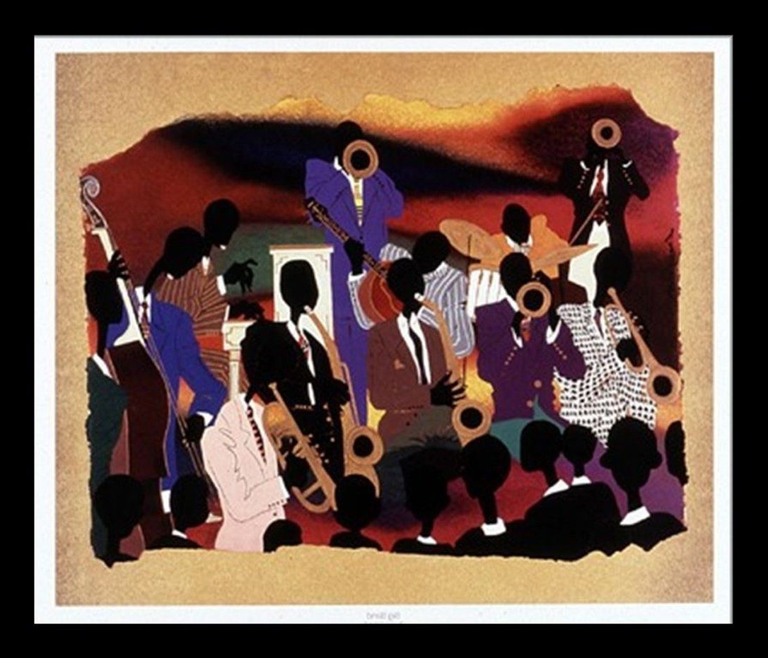 "Most Recent Framed African American Art Prints Intended For Amazon: ""big Band"" Leroy Campbell, Premier Quality Framed (View 14 of 15)"