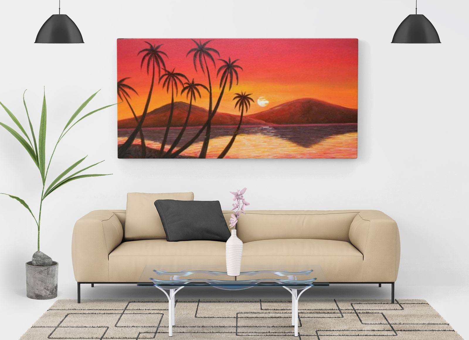 Most Recent Free Living Room Painting Wall Canvas Mockup Psd – Good Mockups Inside Mockup Canvas Wall Art (View 12 of 15)