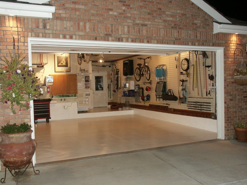 Most Recent Garage Wall Accents For Decorations : Classic Garage Idea With Brick Wall Accents Also (View 6 of 15)