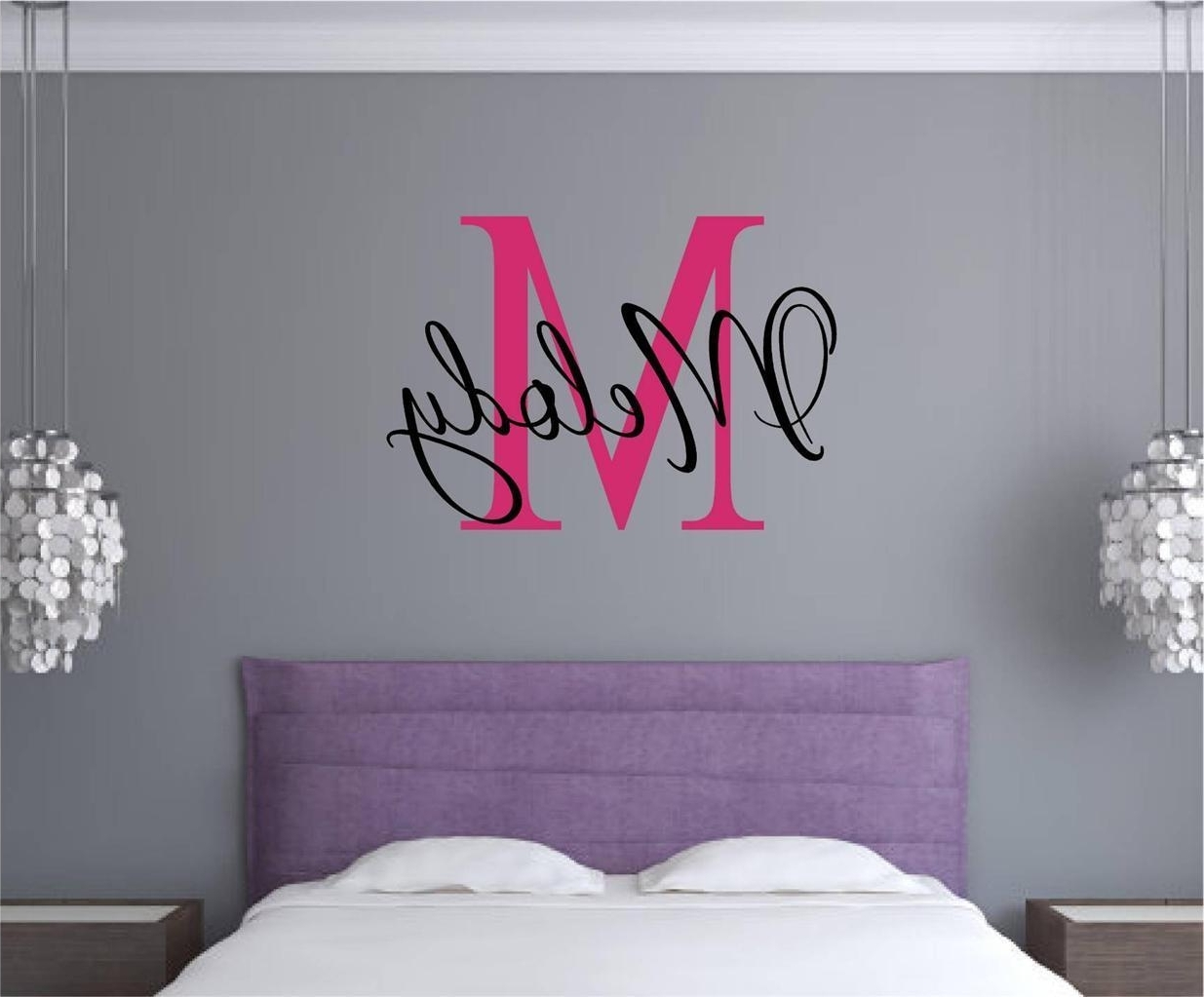 Most Recent Johannesburg Canvas Wall Art Intended For Wall Art Designs: Name Wall Art Custom Monogram Name Vinyl Decal (View 12 of 15)