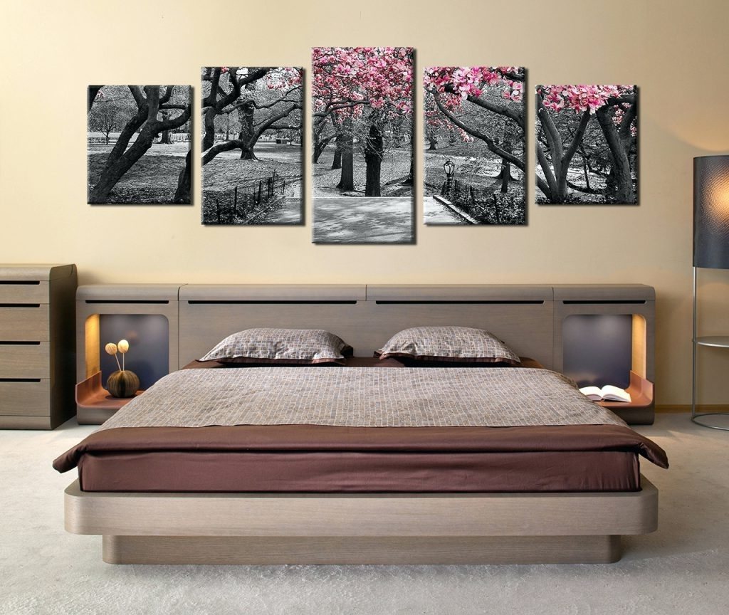 Most Recent Masters Canvas Wall Art In Wall Arts ~ 5 Piece Huge Canvas Art Black And White Trees Art (View 11 of 15)