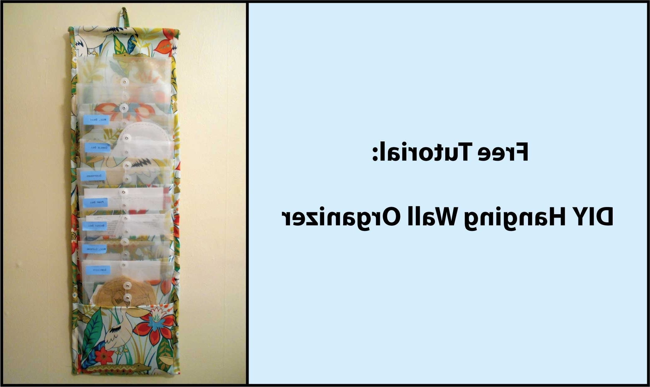 Most Recent No Sew Fabric Wall Art With Tutorial: Diy Hanging Fabric Wall Organizer – Youtube (View 9 of 15)