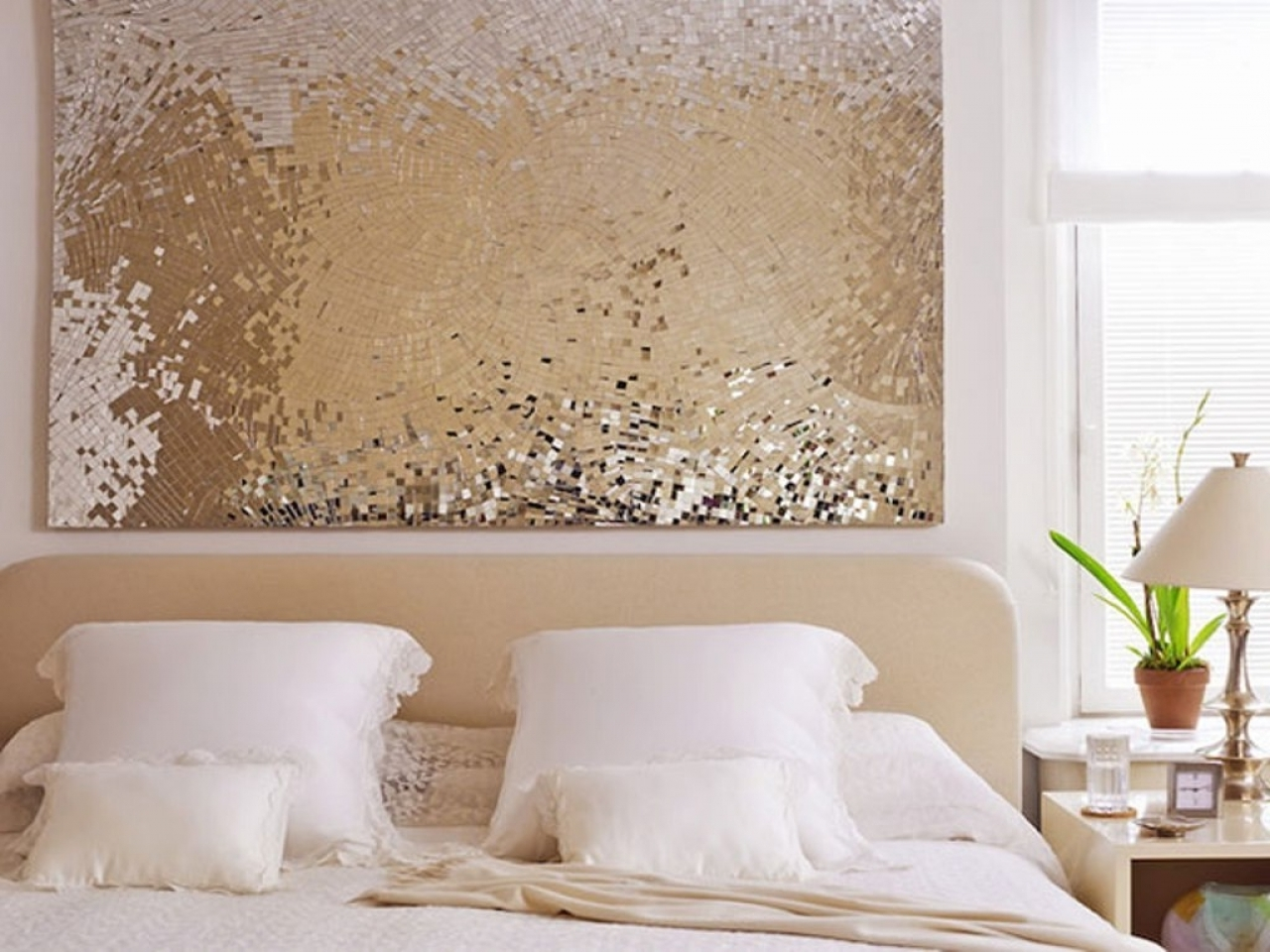 Most Recent Wall Art Ideas For Bedroom, Diy Christmas Wall Decorations Diy For Gold Wall Accents (View 9 of 15)