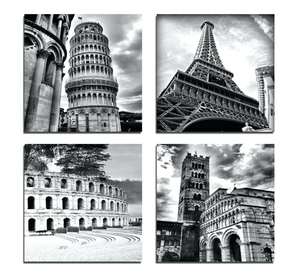 Most Recent Wall Arts ~ Black And White Canvas Wall Art Black And White Canvas With Canvas Wall Art Of Italy (View 12 of 15)