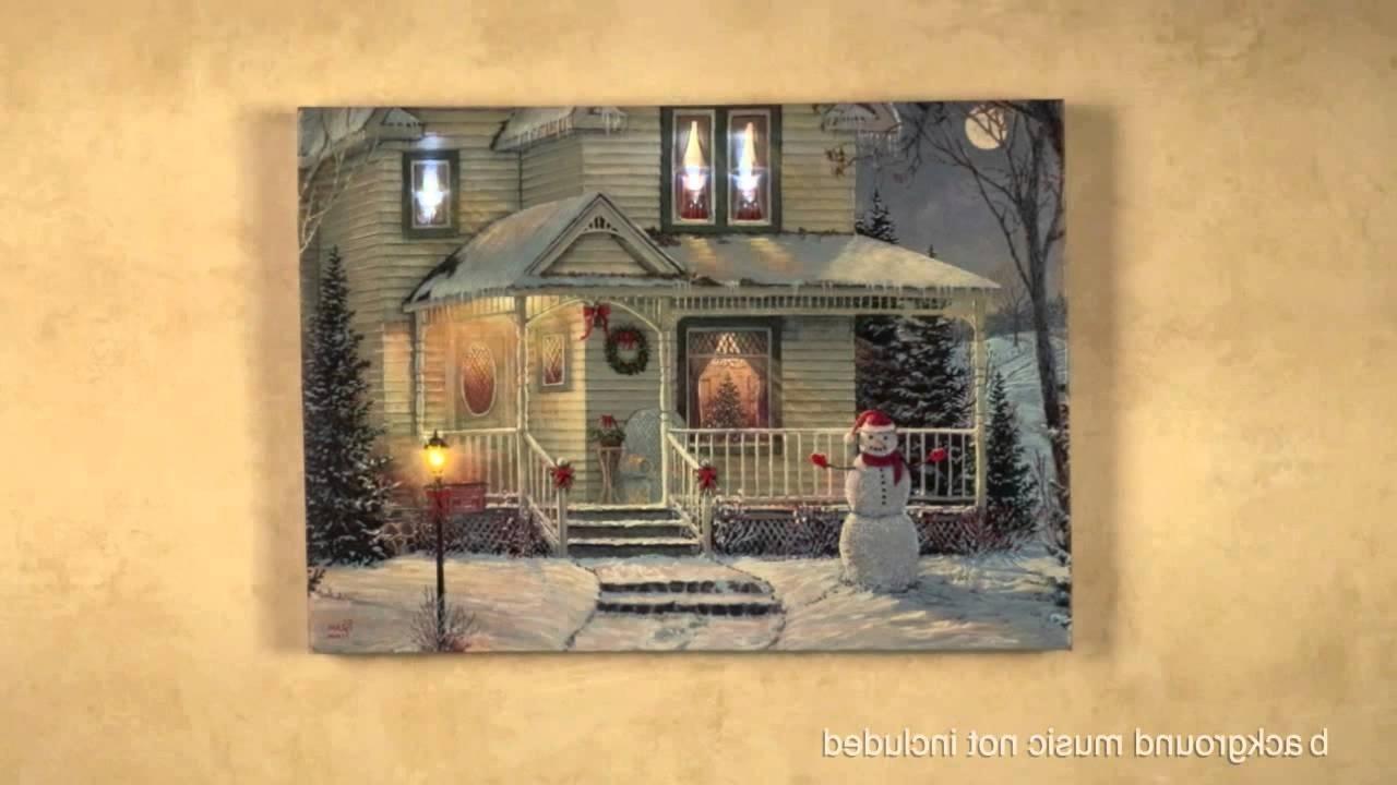 Most Recent Wonderful Life Led Lighted Canvas Wall Art – Youtube Intended For Lighted Canvas Wall Art (View 8 of 15)
