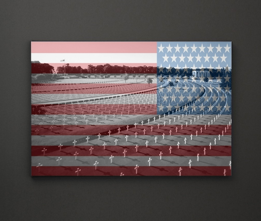Most Recently Released American Cemetery Usa Flag A4 Framed/box Canvas A4 A3 A2 A1 Gift In Leadgate Canvas Wall Art (View 11 of 15)