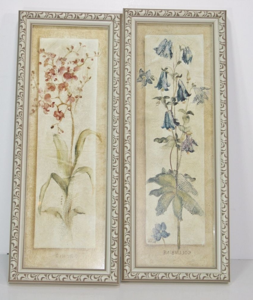Most Recently Released Cheri Blum Framed Art Prints Within Two Decorative Cheri Blum Orchid Columbine Floral Frame Wall (View 12 of 15)