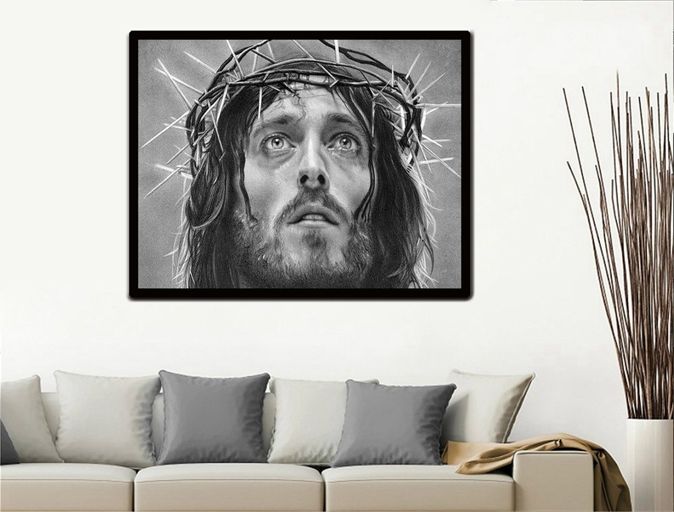 Most Recently Released Christmas Gift Wall Art Painting Jesus Prints On Canvas Painting Intended For Ku Canvas Wall Art (View 9 of 15)