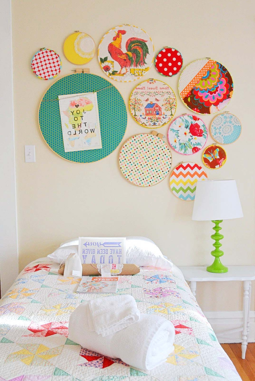 Most Recently Released Fabric Hoop Wall Art Intended For What's All The Hoopla About? – Project Nursery (View 12 of 15)