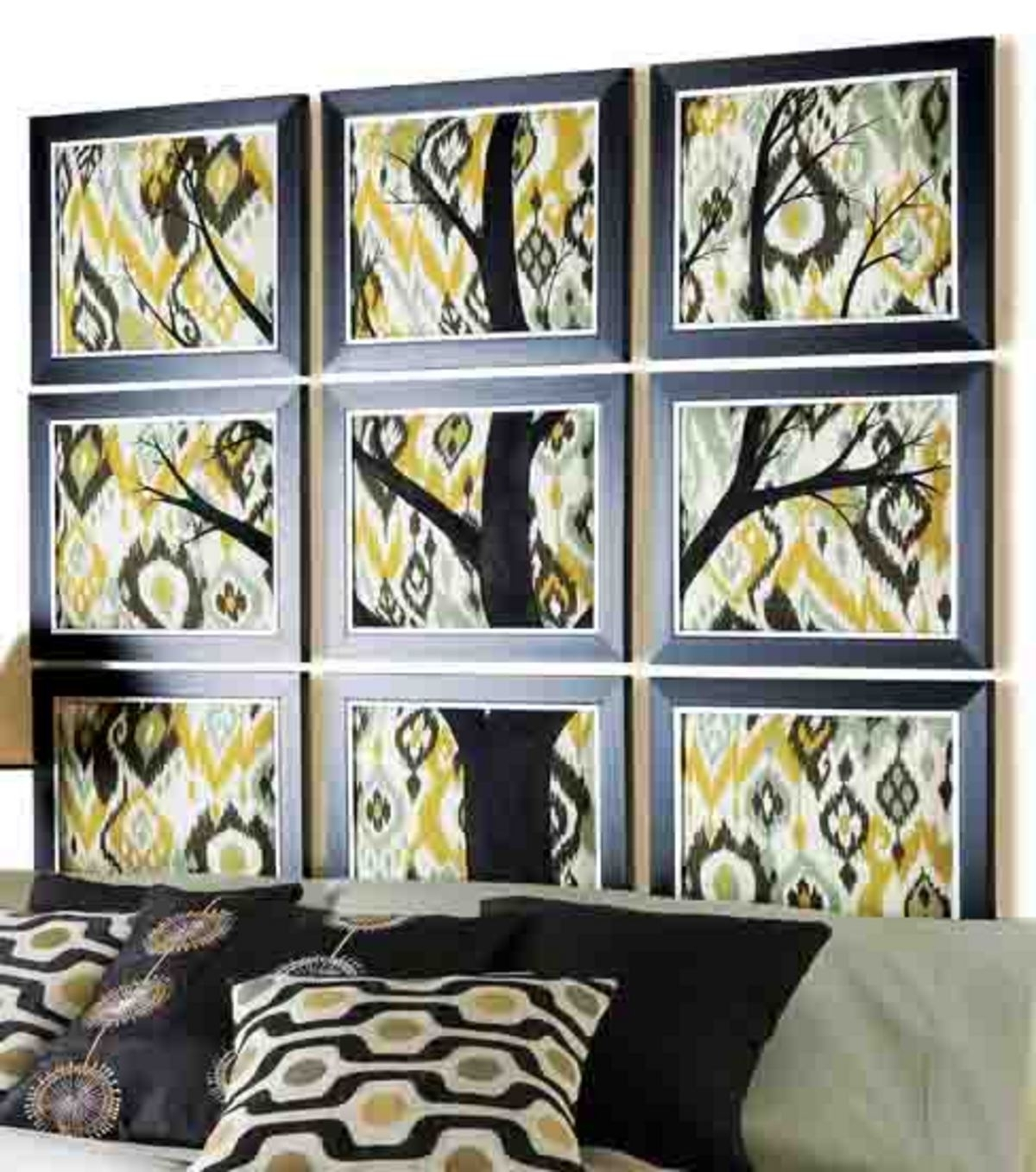 Most Recently Released Fabric Wall Art Frames Intended For Framed Fabric Headboard (View 9 of 15)