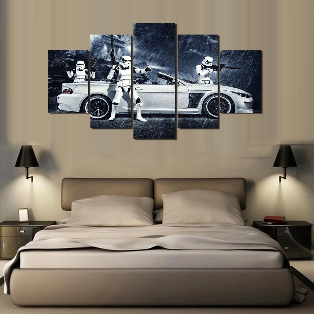 Most Recently Released Framed) 5 Pieces Star Wars Assault Vehicle Bmw Modern Home Wall For Bmw Canvas Wall Art (View 12 of 15)