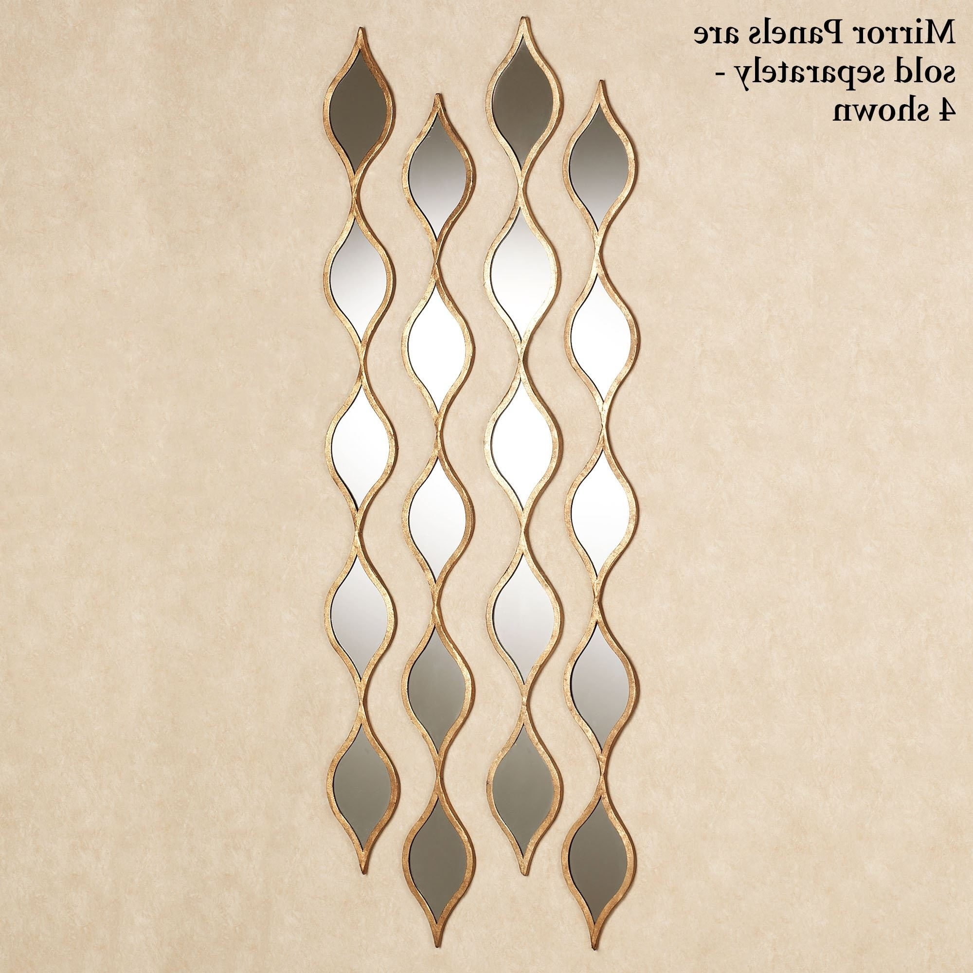 Most Recently Released Gold Wall Accents Inside Ophelia Teardrops Mirrored Wall Accent (View 10 of 15)