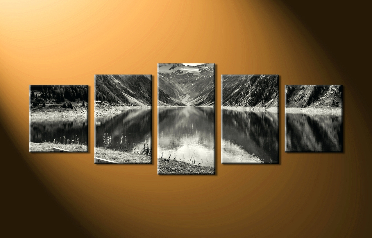 Most Recently Released Ireland Canvas Wall Art In Wall Arts ~ Home Decor 5 Piece Wall Art Forest Group Canvas Black (View 12 of 15)