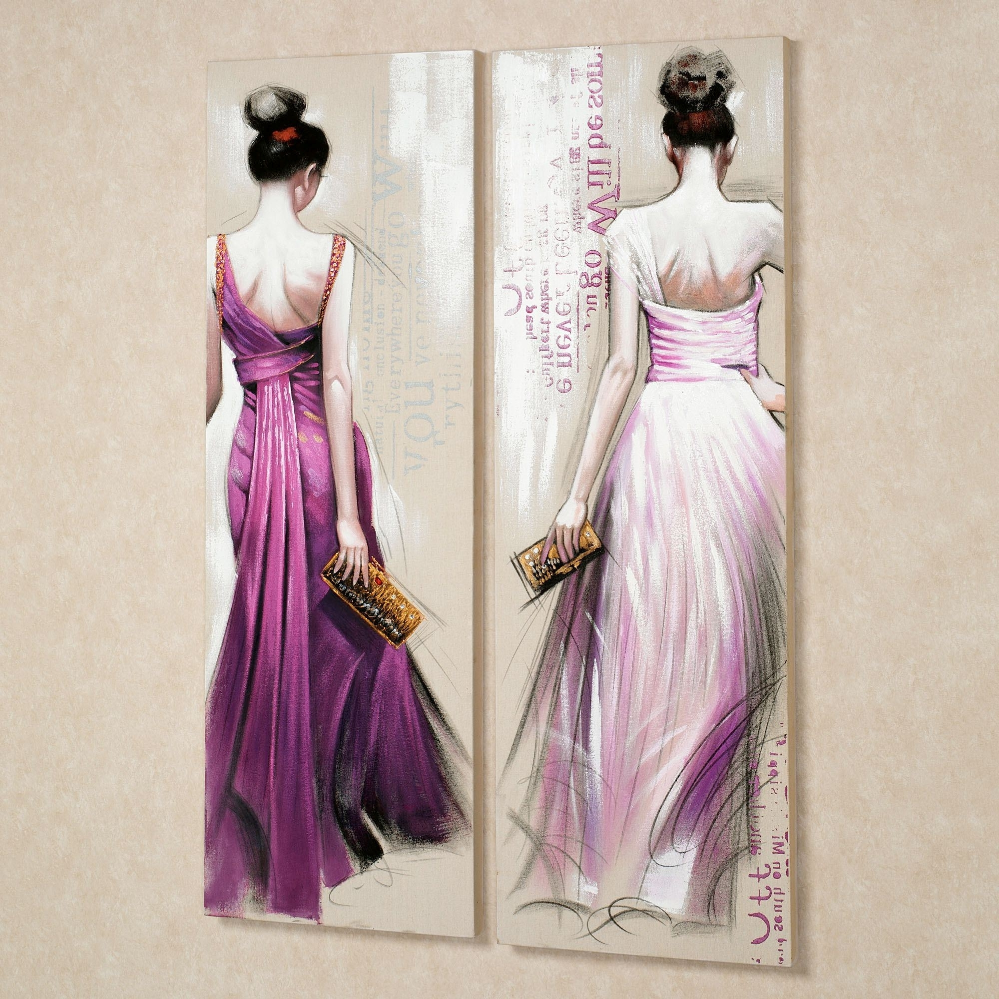 Most Recently Released Lilac Canvas Wall Art With Regard To Brunette Beauties Canvas Wall Art Set (View 11 of 15)