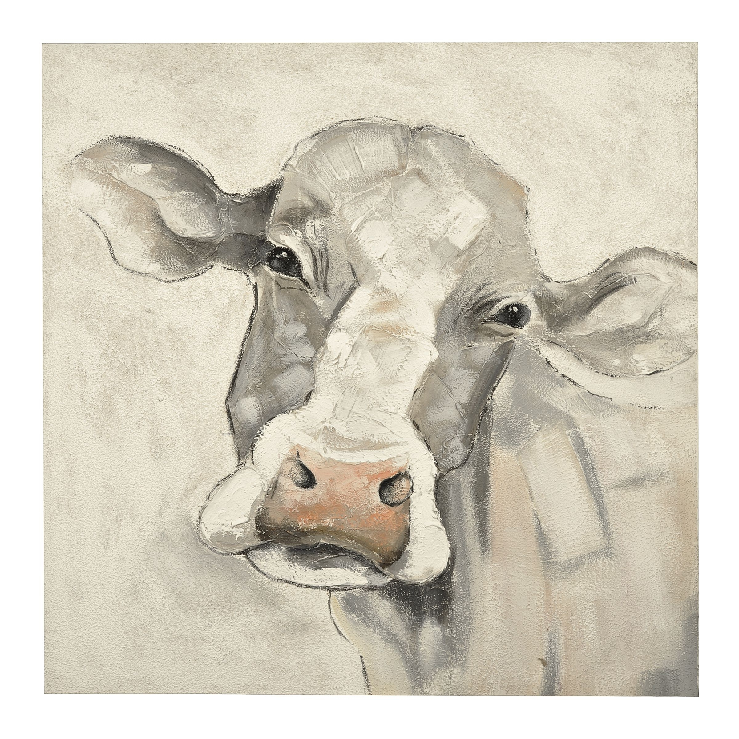 Most Recently Released Quirky Canvas Wall Art For Mischievous Cow Canvas Art Print (View 7 of 15)