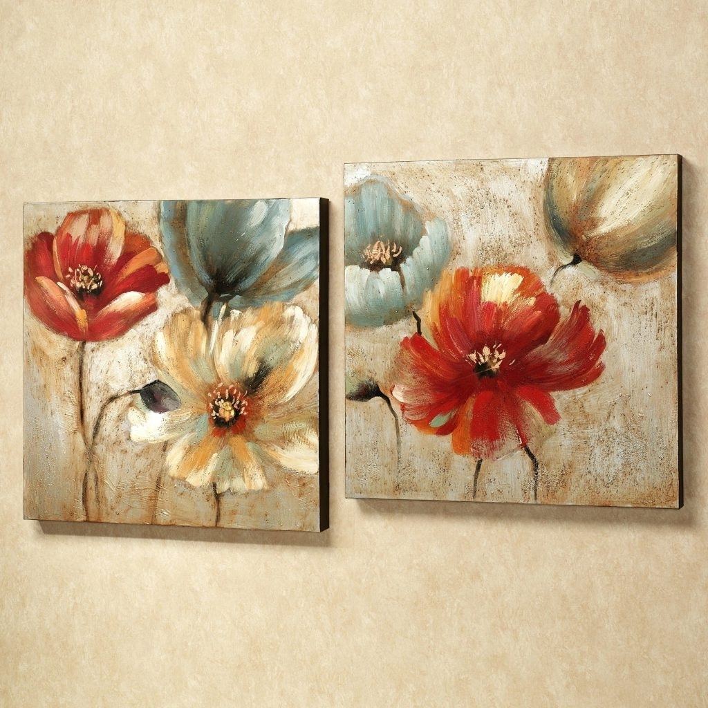 Most Recently Released Red Flowers Canvas Wall Art With Wall Arts ~ Red Flower Canvas Wall Art Red Canvas Floral Wall Art (View 13 of 15)