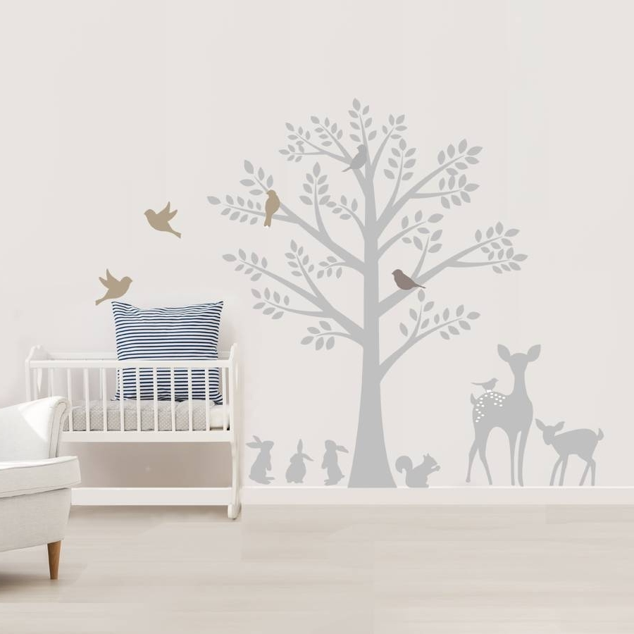Most Recently Released Vintage Tree Wall Stickerslittleprints (View 4 of 15)