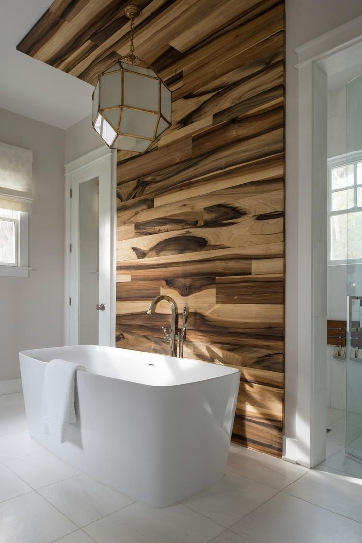 Most Recently Released Wooden Wall Accents Within Bathroom Tile Accent Wall Ideas (View 8 of 15)