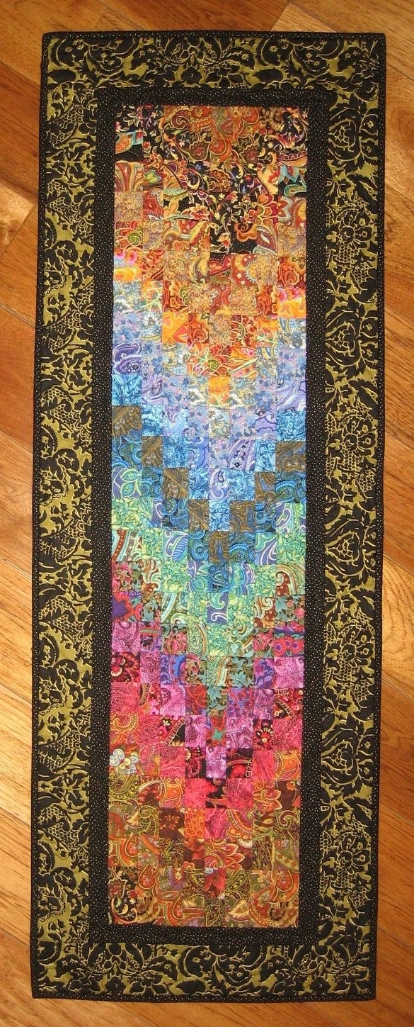 Most Up To Date 113 Best Quilts & Patchwork: Watercolor Images On Pinterest Inside Quilt Fabric Wall Art (View 9 of 15)