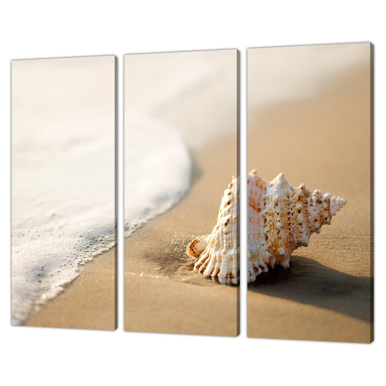 Most Up To Date Bathroom Canvas Wall Art For 3 Panel Wall Art Beach Canvas Pictures Bathroom Bedroom Prints (View 13 of 15)