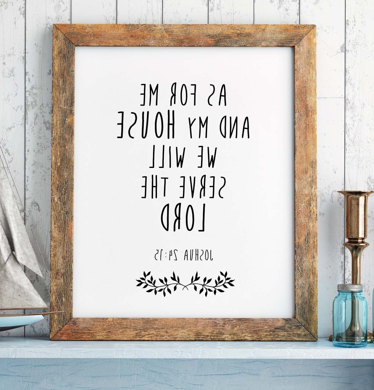 Most Up To Date Christian Framed Art Prints Intended For Bible Verse Print, Joshua 24:15, Scripture Print, Christian Wall (View 6 of 15)