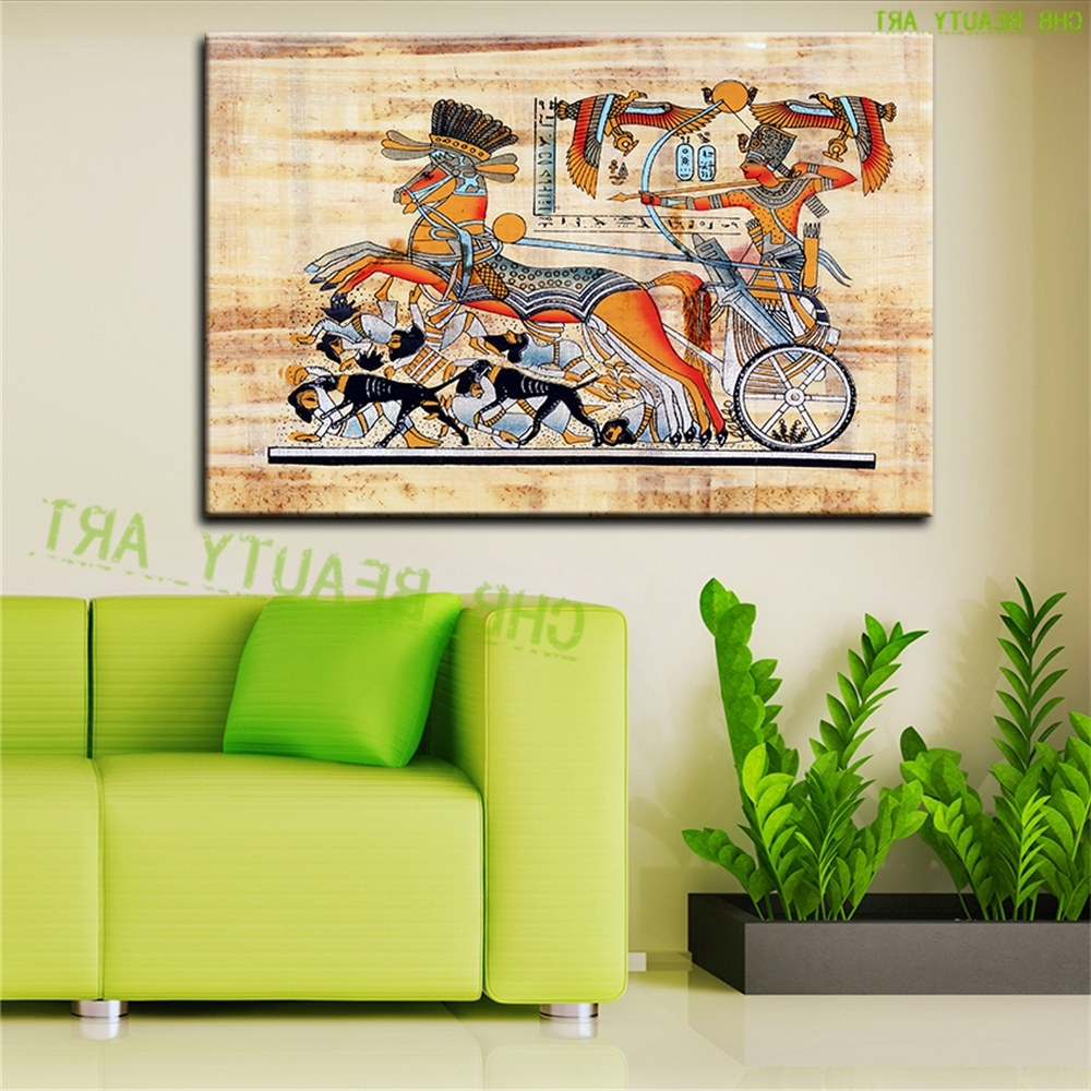 Most Up To Date Egyptian Canvas Wall Art Intended For Egypt Pharaoh Canvas Art Modern Abstract Oil Painting Wall (View 13 of 15)