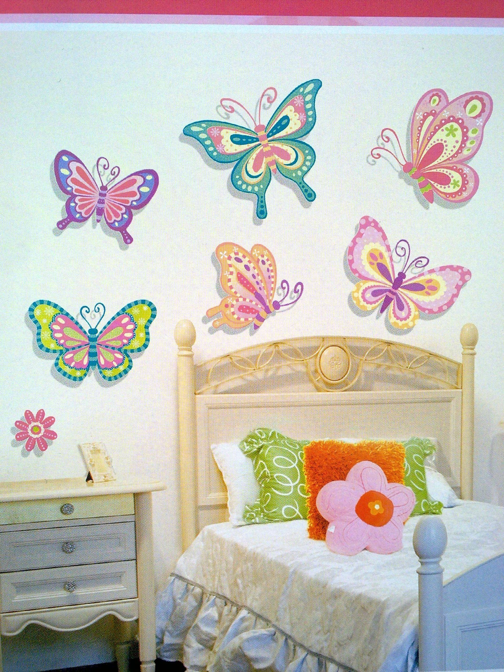 Most Up To Date Fabric Butterfly Wall Art Inside Wall Decor : Full Wall Decals Butterfly Wall Stickers Wall Art (View 12 of 15)