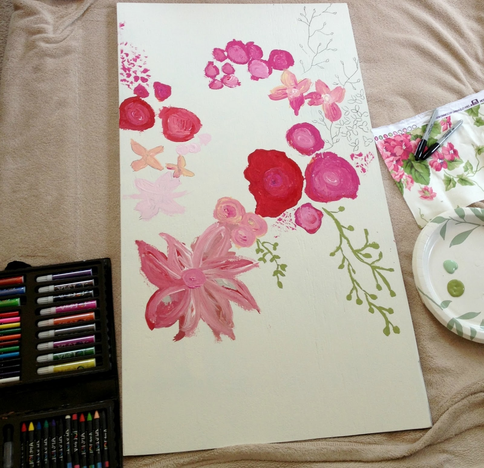 Featured Photo of Floral Fabric Wall Art