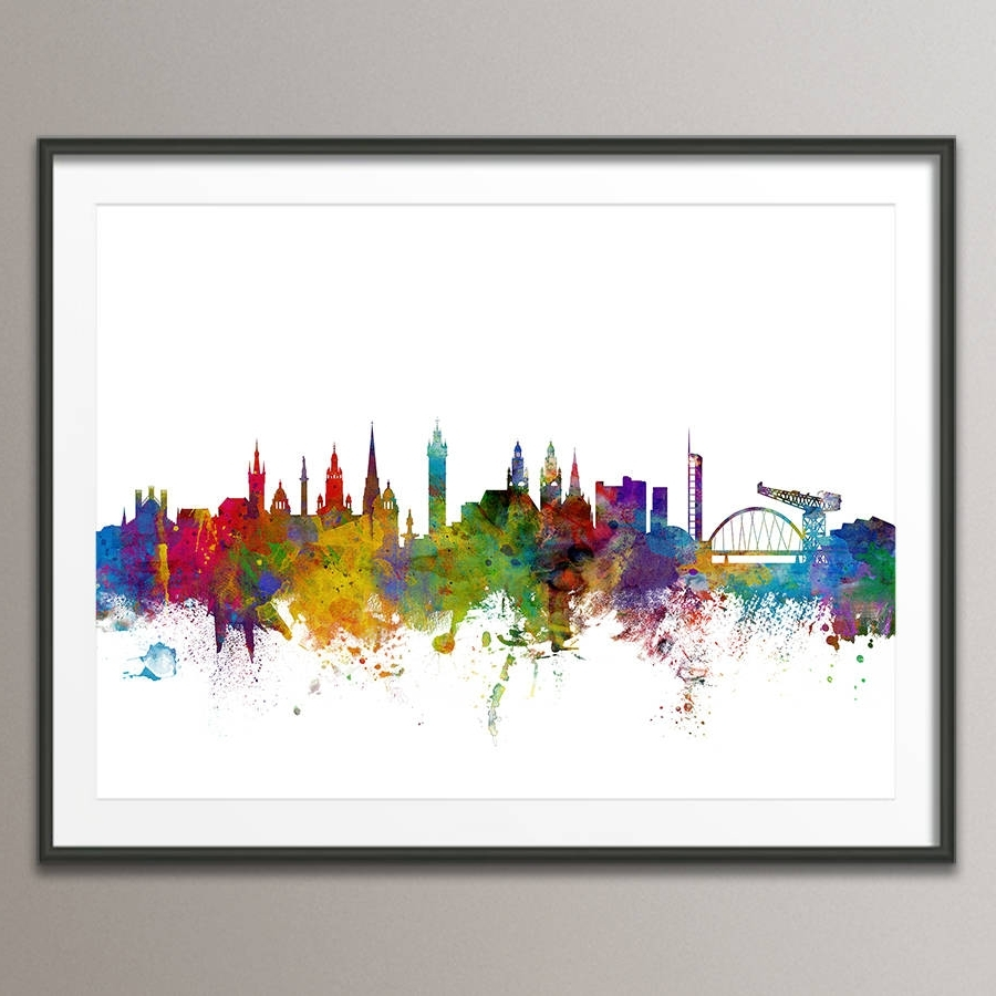 Most Up To Date Glasgow City Skyline Print (View 9 of 15)