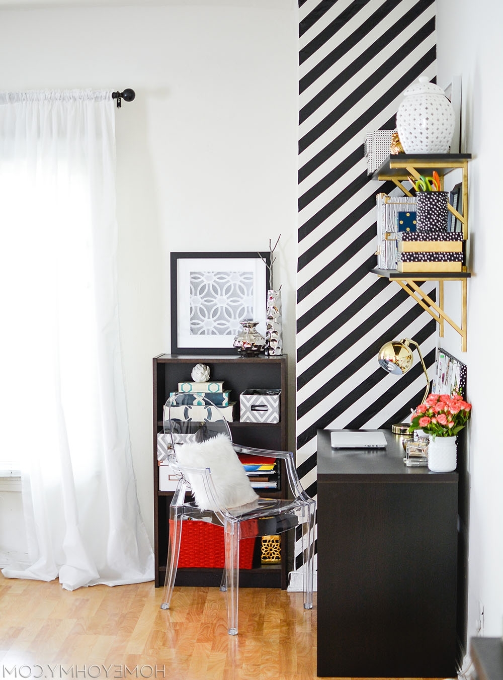 Most Up To Date How To Create A Striped Accent Wall Without Paint – With Stripe Wall Accents (Gallery 14 of 15)