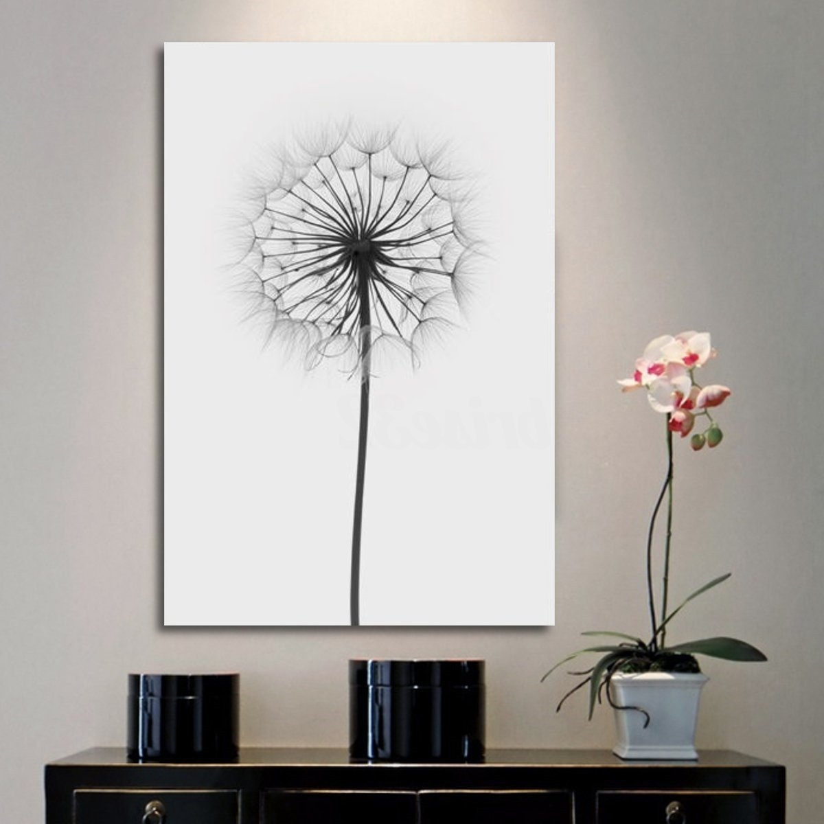 Great Most Up To Date Minimalism Dandelion Canvas Print Painting Wall Art Picture  Home Throughout Dandelion Canvas
