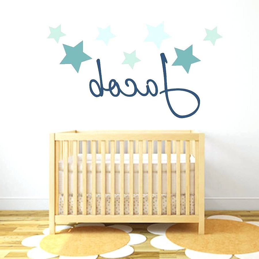 Most Up To Date Purple Wall Decals For Nursery Wall Art Stickers And Decals Star For Baby Nursery Fabric Wall Art (View 8 of 15)