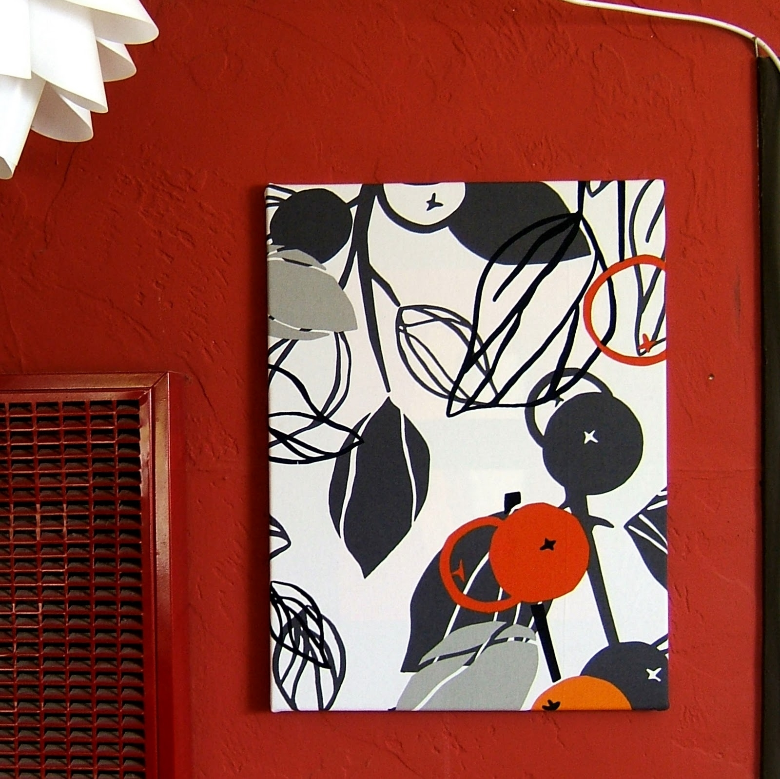 Most Up To Date Red Fabric Wall Art Inside Nine Red: Fabric Wall Art Tutorial (View 6 of 15)