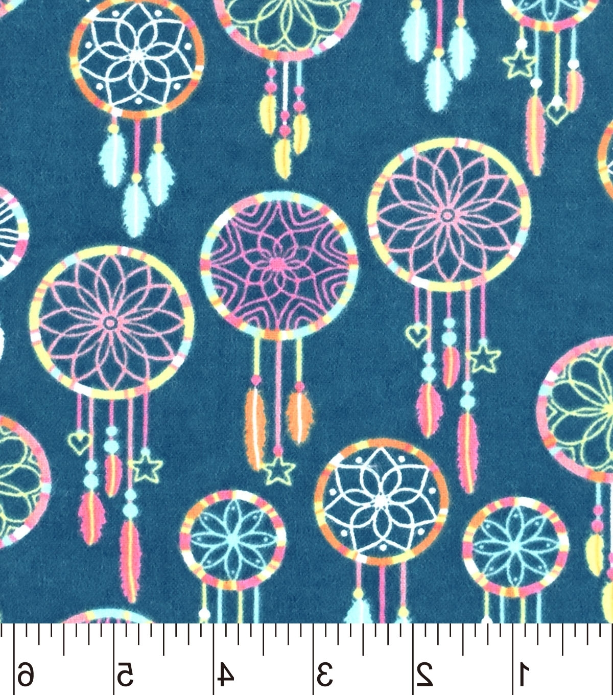 "Most Up To Date Snuggle Flannel Fabric 42"" Multi Color Dreamcatcher (View 8 of 15)"