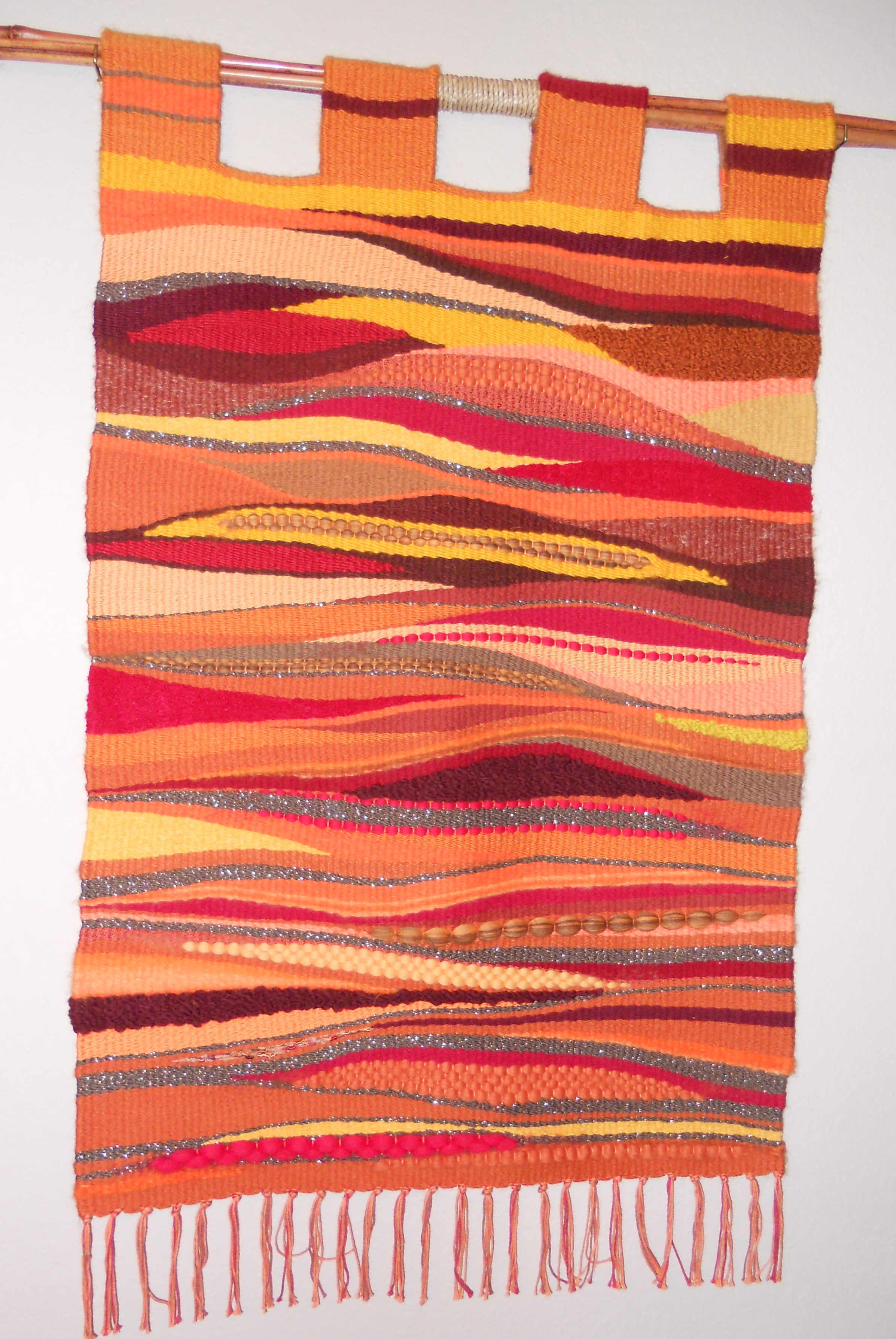 Most Up To Date This Wall Hanging Was Done On A Traditional Floor Loom But Was In Woven Textile Wall Art (View 8 of 15)