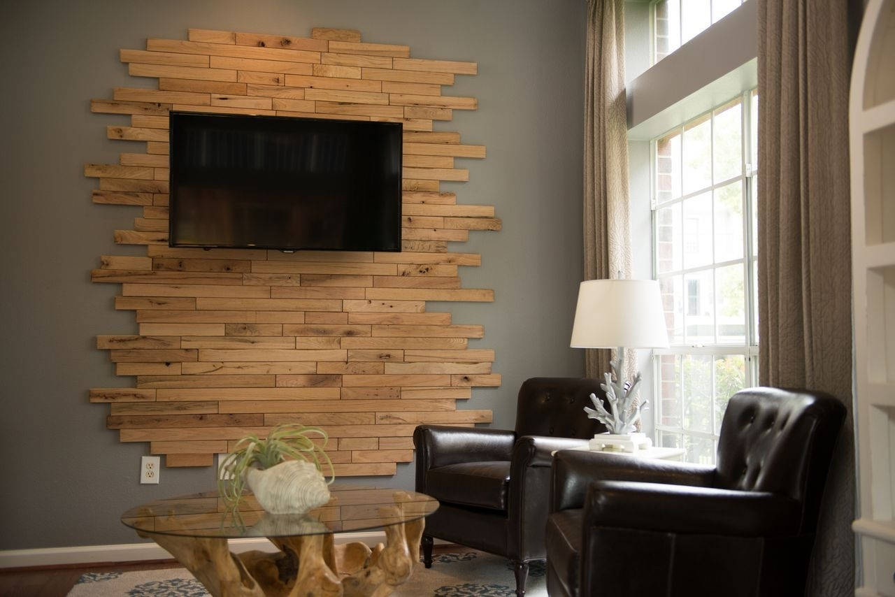 Most Up To Date Wall Accents Behind Tv Within I Love This Wall Art Behind The Tv! #laramar #apartments (View 8 of 15)