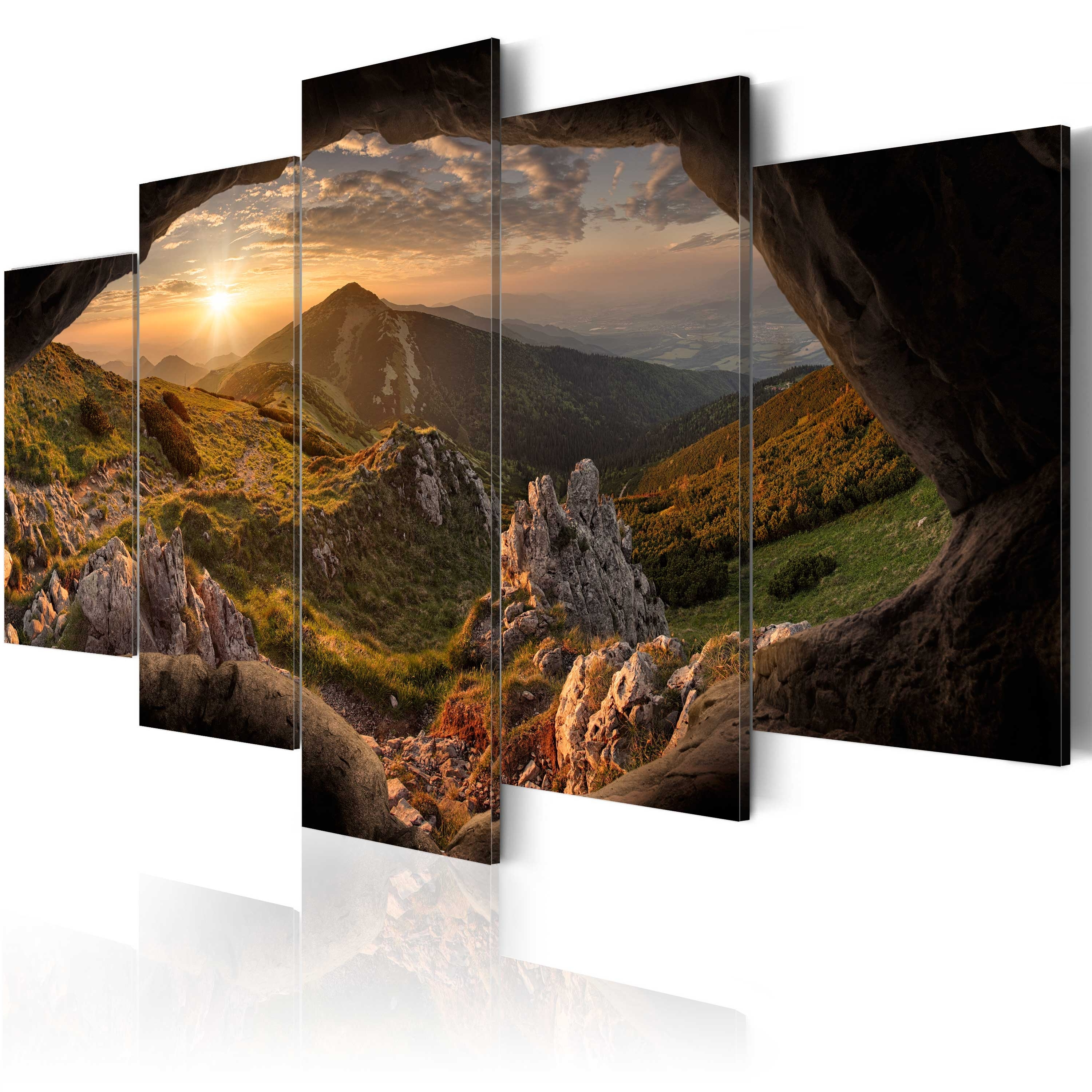 Mountains Canvas Wall Art Inside Fashionable Large Canvas Wall Art Print + Image Picture Photo Nature Mountains (View 13 of 15)