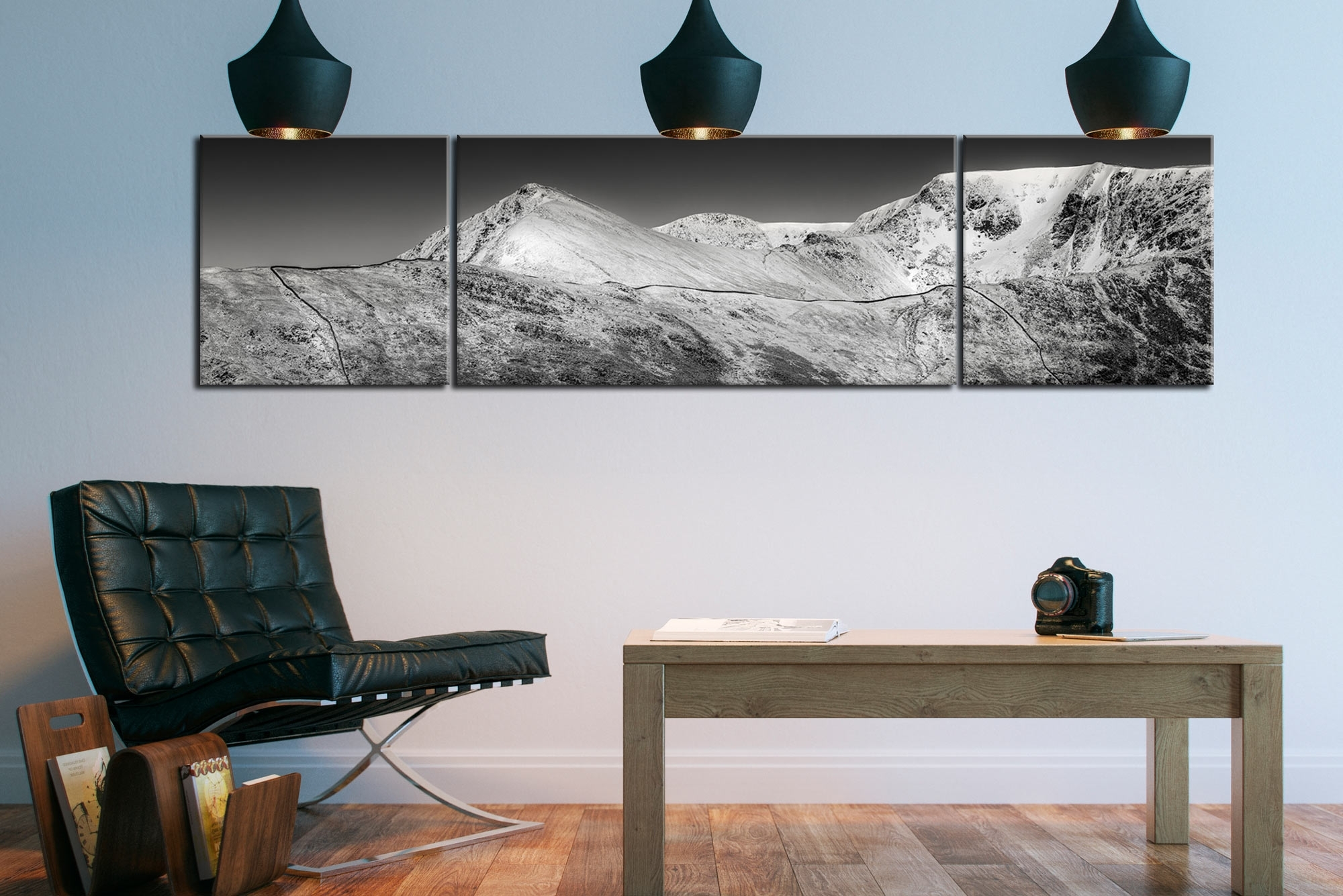Mountains Canvas Wall Art Pertaining To Most Recent Snow Capped Helvellyn Mountains – Canvas Prints Prints (View 9 of 15)