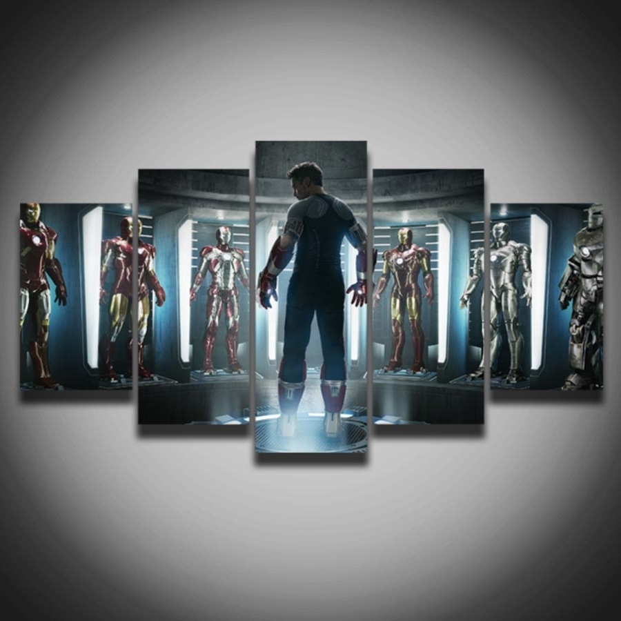 Movies Canvas Wall Art With Regard To Famous Limited Movie Posters Marvel Iron Man Picture Painting On Canvas  (View 13 of 15)