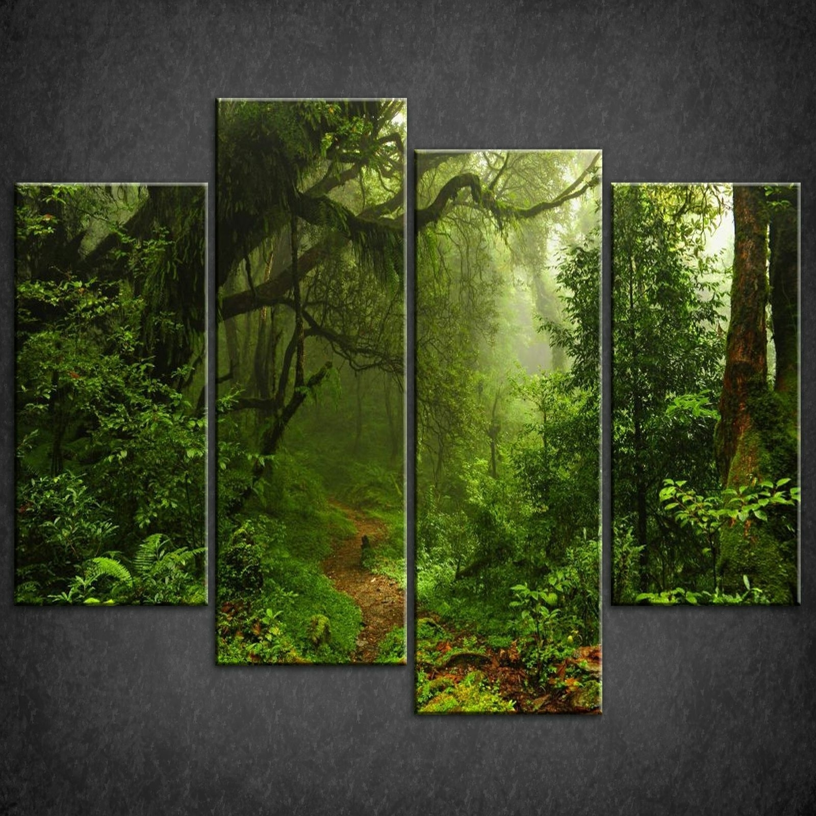Nature Canvas Wall Art Pertaining To Current Wall Art Design Ideas: Aliexpress Beautiful Forest Wall Art Nature (Gallery 11 of 15)