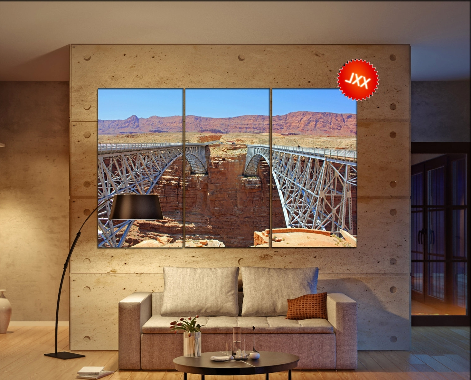 Navajo Bridges, Arizona Canvas Wall Art Skyline Navajo Bridges With Regard To Well Known Arizona Canvas Wall Art Arizona (View 9 of 15)