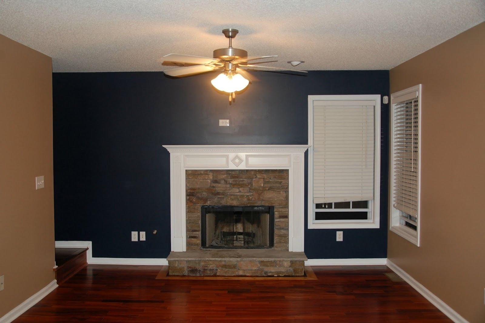 Navy And Tan. I Just Did This Color Combo In My Bedroom And It Pertaining To Popular Wall Accents For Tan Room (Gallery 4 of 15)