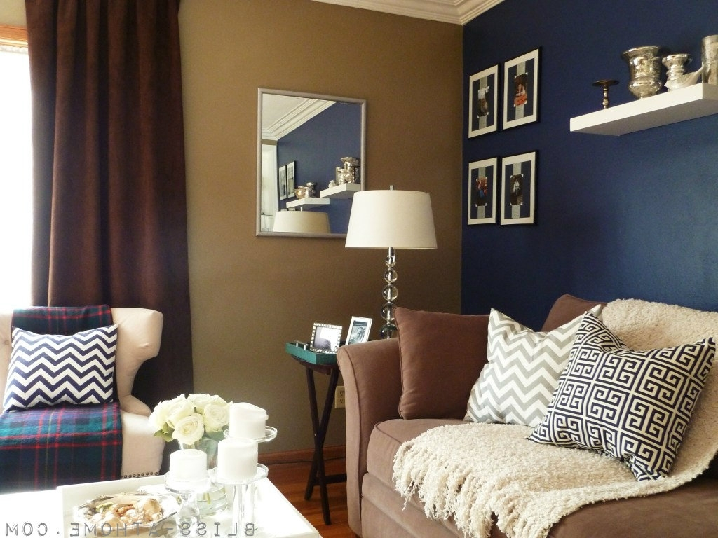 Navy Wall Accents With Regard To Recent Subtle Color (View 4 of 15)